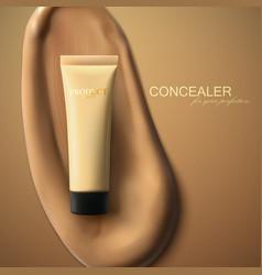 foundation cream packaging design vector image