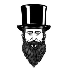 Gentleman in vintage hat design element for vector