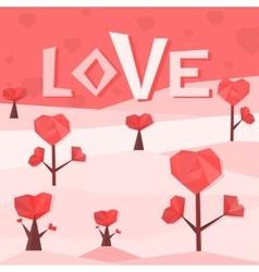 Heart trees vector