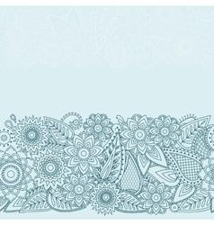 Henna Flowers Mehndi Design seamless vector