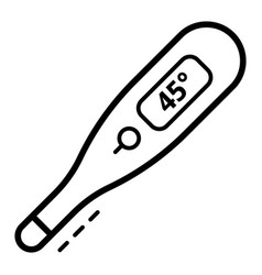 high temperature thermometer icon outline style vector image