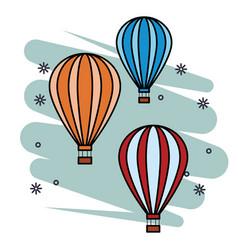 Hot air balloon pop art vector
