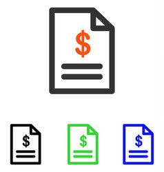 Invoice flat icon vector