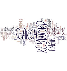 Keyword density factor text background word vector