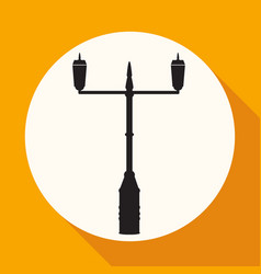 Lamp post street icon vector