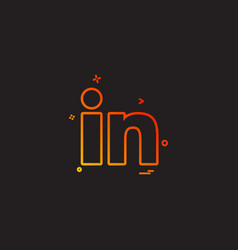 linkedin icon design vector image