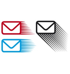 Mail icon set vector image