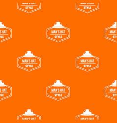 Man hat pattern orange vector