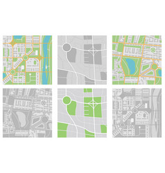 maps collection navigation tool vector image