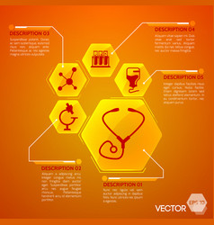 medicine and health orange poster vector image