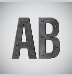 metal letters vector image