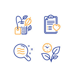Mint bag patient history and skin condition icons vector