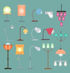 Modern indoor lights set vector