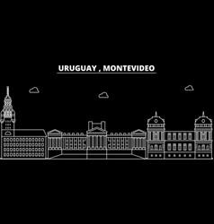 Montevideo silhouette skyline uruguay vector