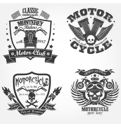 motorcycle label set vector image