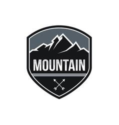 mountain expeditions logo design vector image