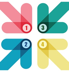 number arrows vector image