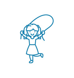 outdoor girls games linear icon concept outdoor vector image