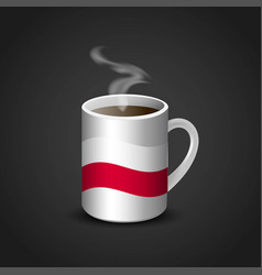 Poland flag printed on hot coffee cup vector
