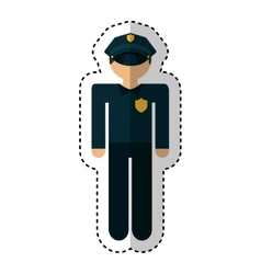Police agent avatar character vector