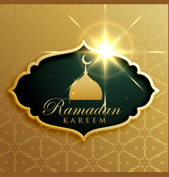 Ramadan kareem festival greeting design in vector
