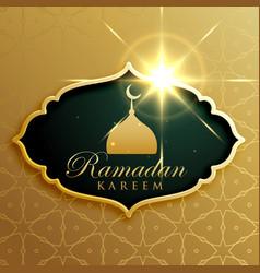 Ramadan kareem festival greeting design vector