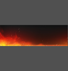 realistic fire with sparks and smoke vector image
