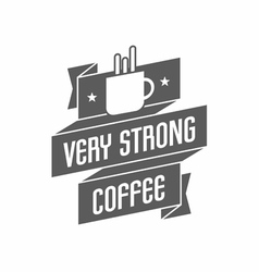 Retro Vintage Coffee Logo with cup and Typography vector image