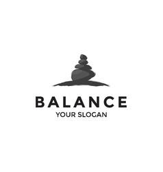 rock balance vector image