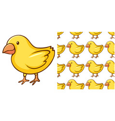 Seamless background design with little chicks vector