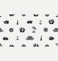 seamless background on theme sea travel vector image
