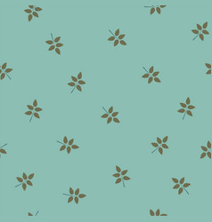 Seamless pattern with leaves of rose or brier vector