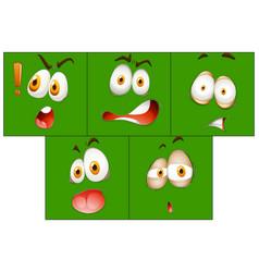 Set of facial expression vector