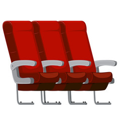 side of the airplane seat vector image