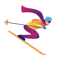 skier riding downhill vector image