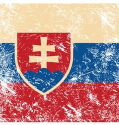 Slovakia retro flag vector image
