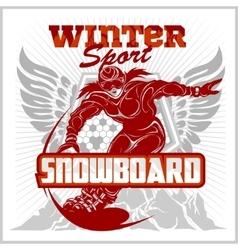 Snowboarding emblem labels and designed elements vector image