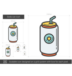 soda can line icon vector image