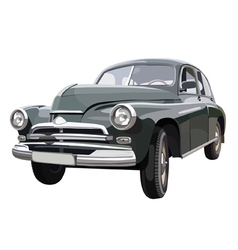 Soviet retro car vector image
