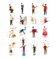 street artists isometric people vector image