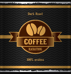 Stylish coffee poster vector