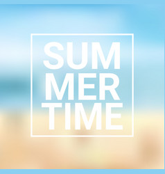 summer time blurred sea bokeh beach background vector image