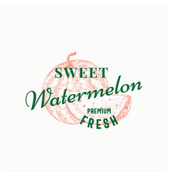 Sweet watermelon abstract sign symbol or vector