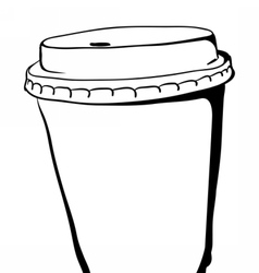Take away Coffee paper cup vector