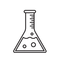 Test tube icon clinically tested product vector