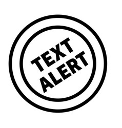 text alert stamp on white vector image