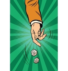 Throw the dice game randomness casino vector image vector image