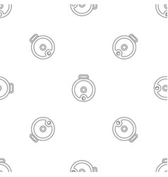Top view robot vacuum cleaner pattern seamless vector