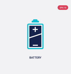 Two color battery icon from electrian connections vector