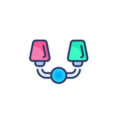 vanity light icon in logotype vector image